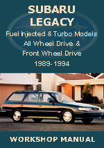 Subaru Legacy 1989-1994 Workship Repair Manual