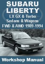 Subaru Liberty 1989-1994 Workshop Repair Manual