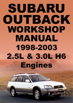 Subaru Outback 1998-2003 Workshop Repair Manual