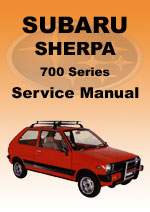 Subaru Sherpa 700 Series Workshop Manual
